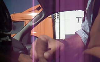 trucker flashing 6