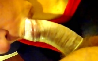 blowjob with condom 2