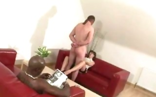 cock teasing lady sonia spunk flow