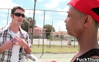 white man gets picked up by thug for