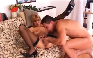 blond babe fisted and banged hard