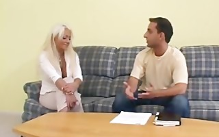 platinum victoria spencer takes cock in her