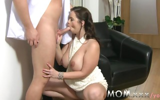 mommy large breasted milf gets drilled