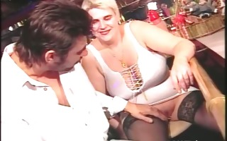 blonde big beautiful woman wench pussy drilled by