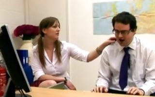 cfnm schoolgirls abuse chap in office