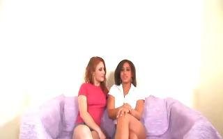 redhead and swarthy lesbo