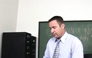 gorgeous cheerleader copulates with teacher