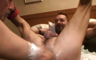gay stud gets his tight anus fisted part1