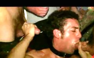 leashed homo engulfing rods and get cook jerking