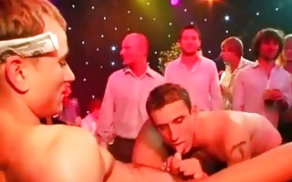 homo party dudes engulf on cocks