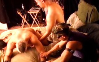 4 dude cbt fuckfest with 3 juvenile pumped up