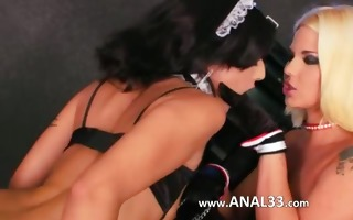 brutal booty dildoing with secretaries