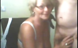 non-professional camgerman granny blow job and