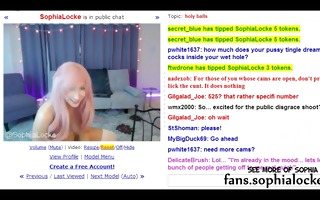 sophia locke - public fuck machine show