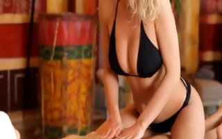 daintily erotic massage between blondes