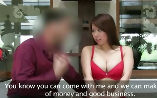 asian hottie with large meatballs fucking on