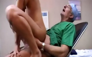 old stud doctor copulates patient