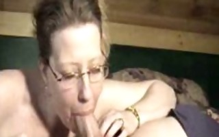 mom with glasses asks for a jizz flow