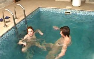 dripping juicy pool sex