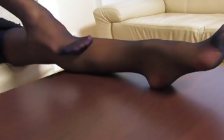 playgirl in darksome nylons
