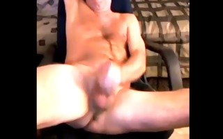 mature mature dad guy shoots his load on his