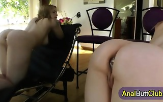 fetish slut gets booty plugged
