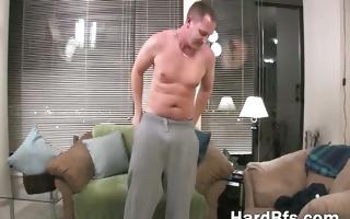 older chap masturbates and cums