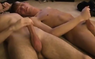 gay fuck jared is jumpy about his st time jacking