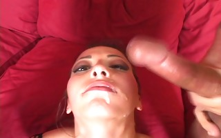 milking thier jocks untill they cum on her face