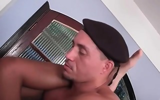 lewd military guy loves drilling part6