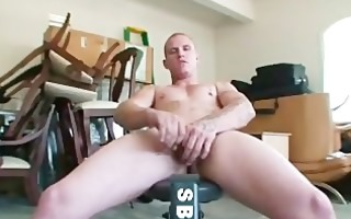 tattooed guy busting his nuts part2