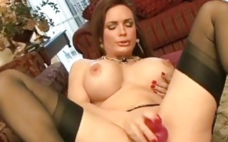randy brunette hair in dark stockings sticks sex