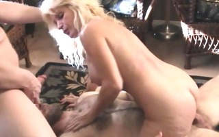 hawt busty granny receives cocks