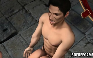 restrained 3d toon blond babe receives drilled