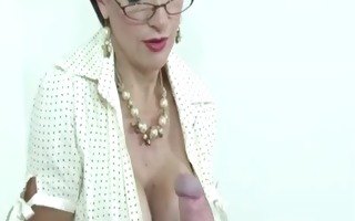 mature gill ellis young cock jerk cumshot