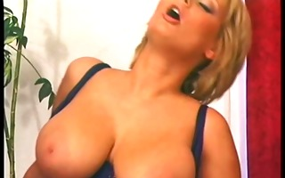 blond mama with consummate jugs pumped on a