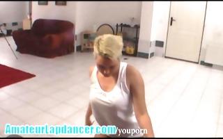 original lapdance show by czech bulky lady