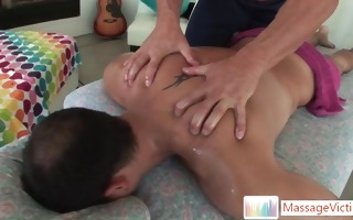 guy about to get backdoor massage part2
