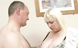 aged bbw jo juggs gets her big zeppelins and