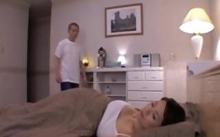 mature bigtit miki sato masturbating on bed 2 by