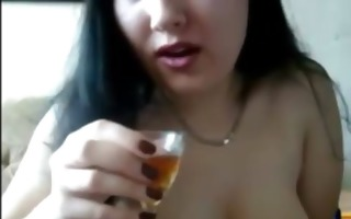 hawt breasty russian playing on cam