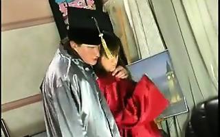 russian schoolgirl drilled by her teacher