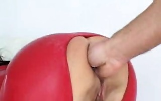 aged dilettante in latex extraordinary anal