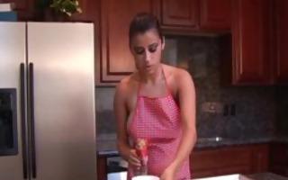 alexa loren adored nude dark brown in the kitchen