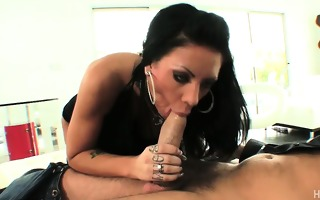 his hard jock unfathomable in her mouth