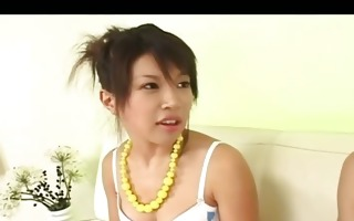 water in her tight japanese anal opening