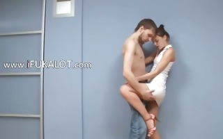 hungarian pair fucking on a floor