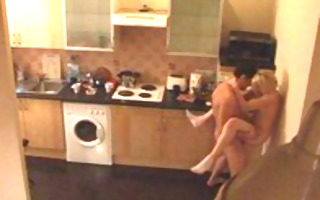 amateur homemade movie in the kitchen