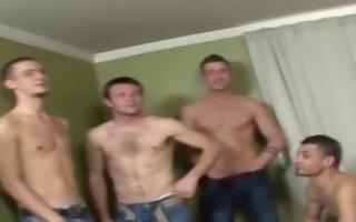 horny bukkake chaps get sucked off