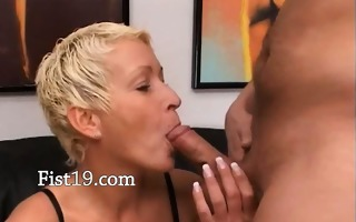 blonde mature having snatch fisted hard